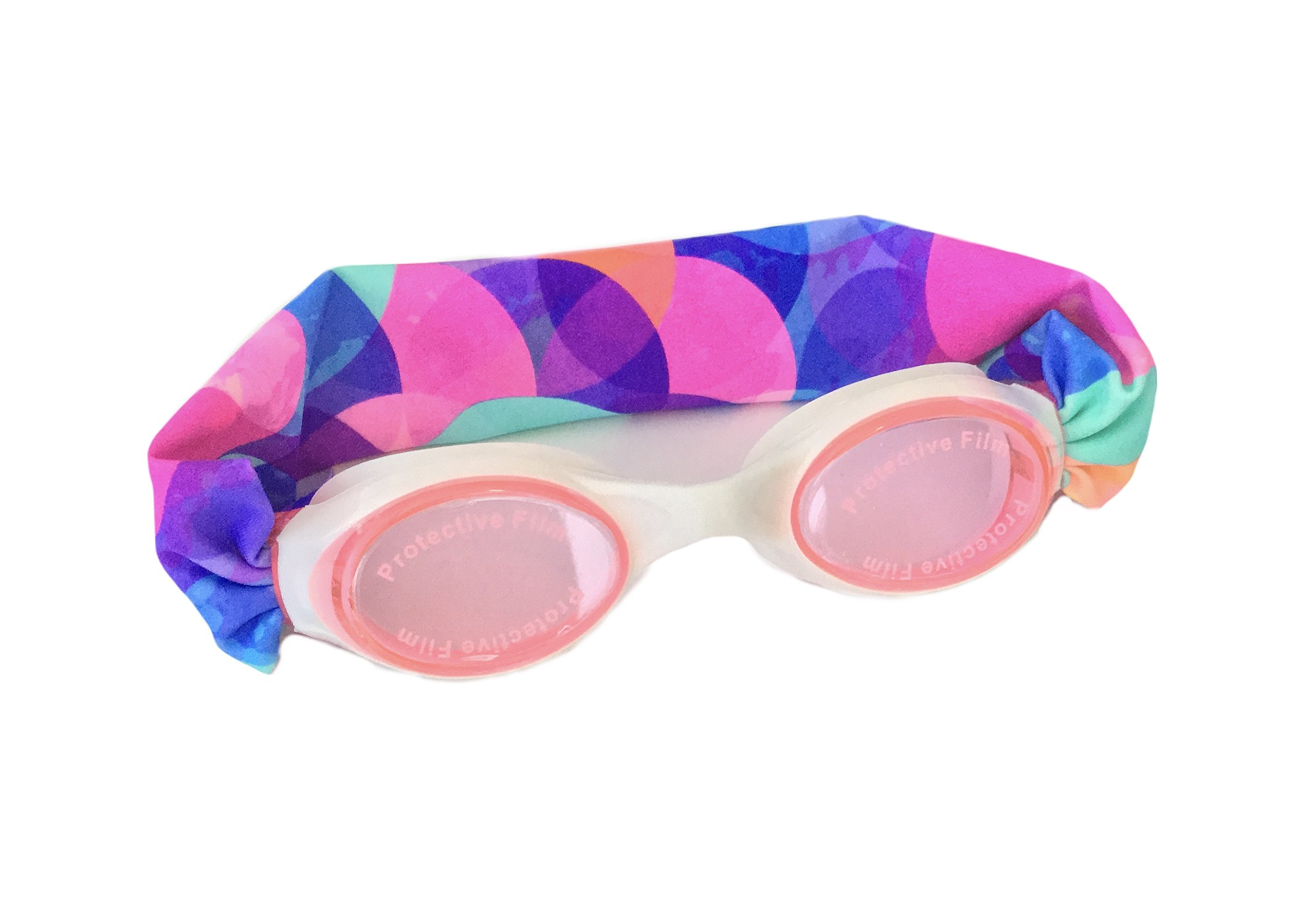 Splash Bubbles Swim Goggles - Comfortable, Fashionable, Fun - Fits Kids & Adults - Won't Pull Your Hair - Easy to Use - High Visibility Anti-Fog Lenses - Patent Pending