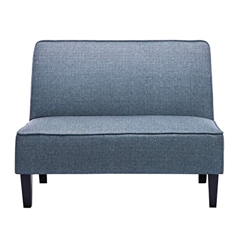 Amazon.com: Sofá de lino acolchado sin brazos para sofá o ...
