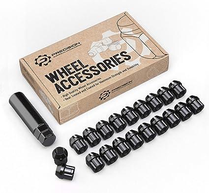 20 Black Tuner Wheel Nuts for Aftermarket Kia Soul Alloy Wheels