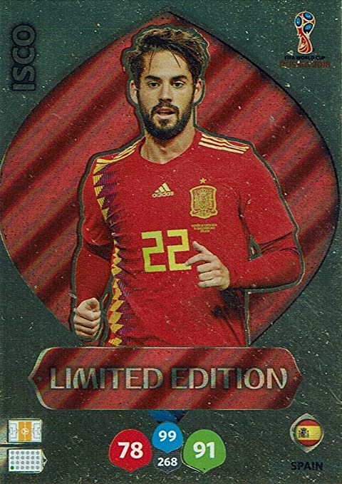 Adrenalyn XL Panini Coupe du monde de football Russie 2018 Isco Édition limitée: Amazon.es: Deportes y aire libre