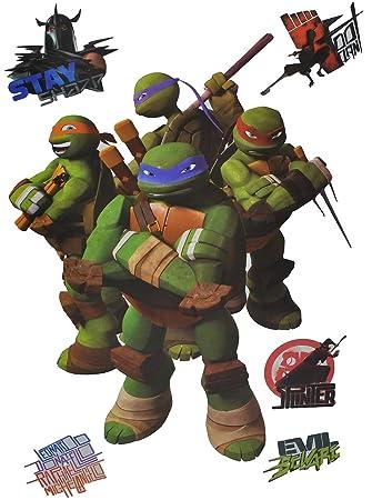 6 tlg. Set: Fensterbilder / Sticker - Teenage Mutant Ninja Turtles ...
