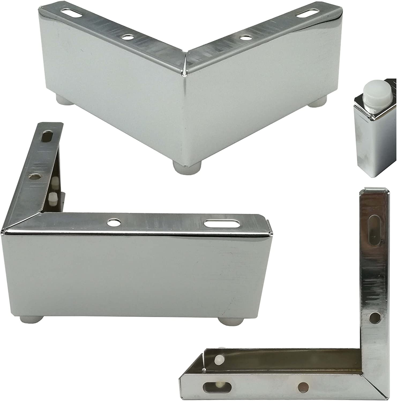4/x soporte de dise/ño para muebles pata Socket de pie 12/x 12/x 5/cm Armario Del Pie sof/á pie cromado