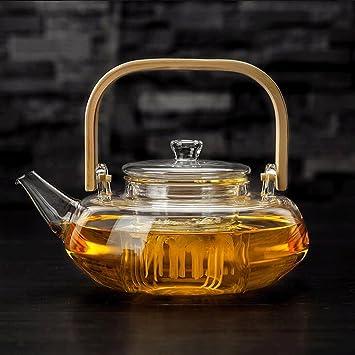 Tee-Satz-hohe Temperatur-manuelle anhebende Strahl-Glasteekanne ...