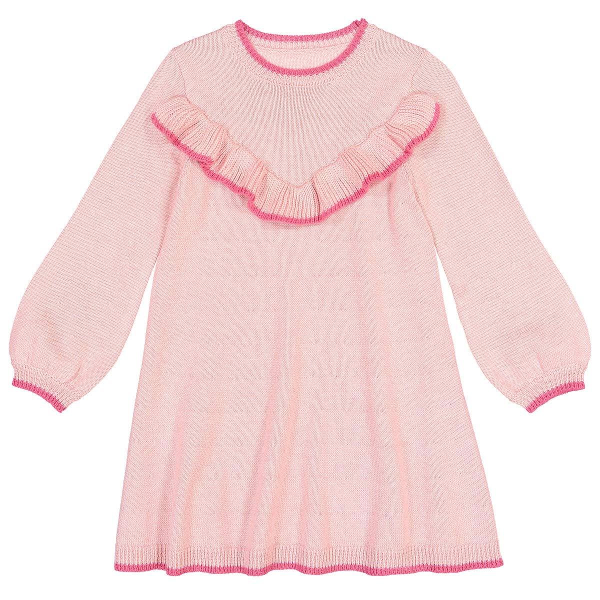 5fc7e9e92095 Amazon.com  La Redoute Collections Big Girls Ruffled Jumper Sweater Dress