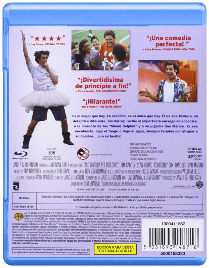 Ace Ventura Un Detective Diferente Blu Ray 2013 Import Movie European Format Zone 2 Movies Tv