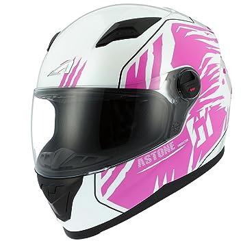 Astone Helmets gt2g-predator-wpm casco Moto Integral GT, color blanco/rosa
