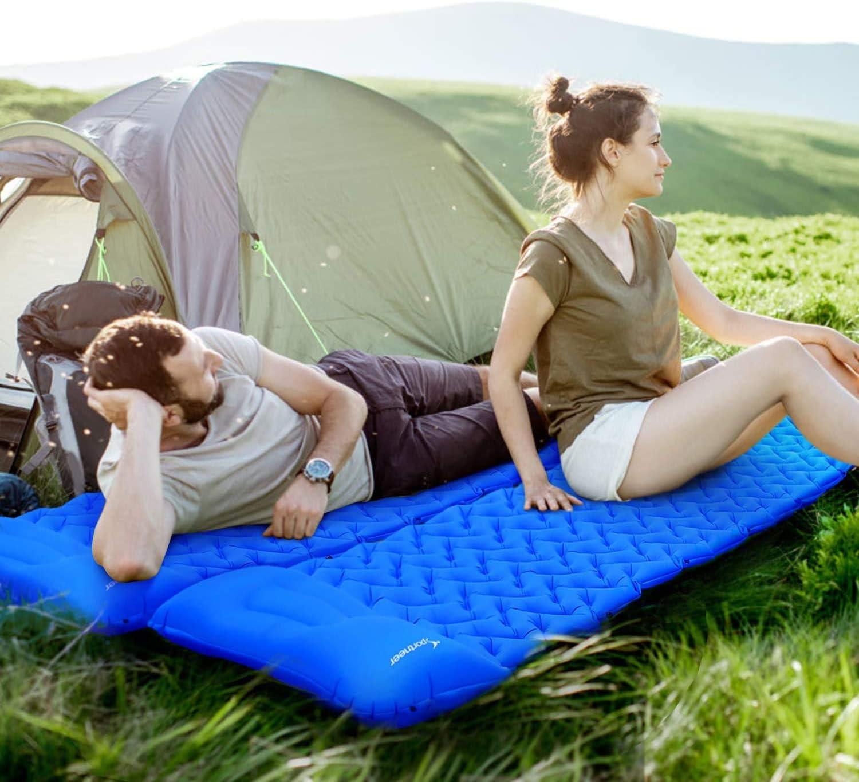 Le Camping et la randonn/ée Matelas Gonflable avec Oreiller et Pompe de gonflage Matelas imperm/éable ultral/éger pour Les Voyages /à Dos Sportneer Tapis de Camping