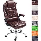 CLP XXL Chefsessel THOR, max. belastbar bis 150 kg, Bürostuhl mit Armlehnen, höhenverstellbar 49 - 59 cm, Drehstuhl mit dickem Polster, in verschiedenen Farben Bordeauxrot