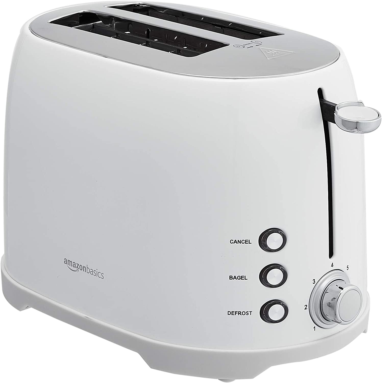 AmazonBasics 2-Slot Toaster, White