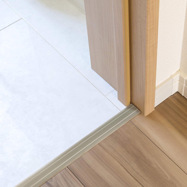 Colore Argento Toolerando Profilo per Pavimenti Strisce di Copertura Copri Soglia Misure 90 cm x 36 mm x 2,5 mm Autoadesivo