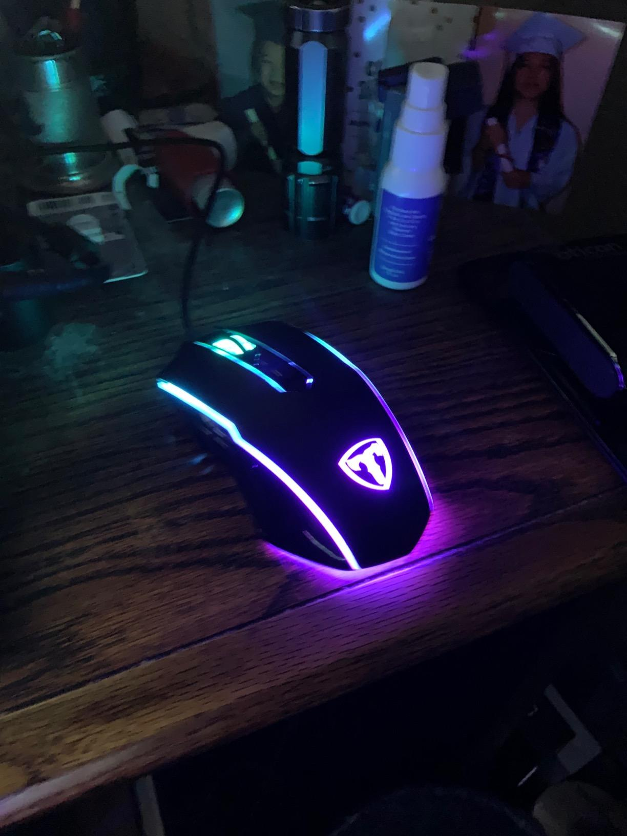 PICTEK Gaming Mouse Wired, 8 Programmable Buttons, Chroma RGB