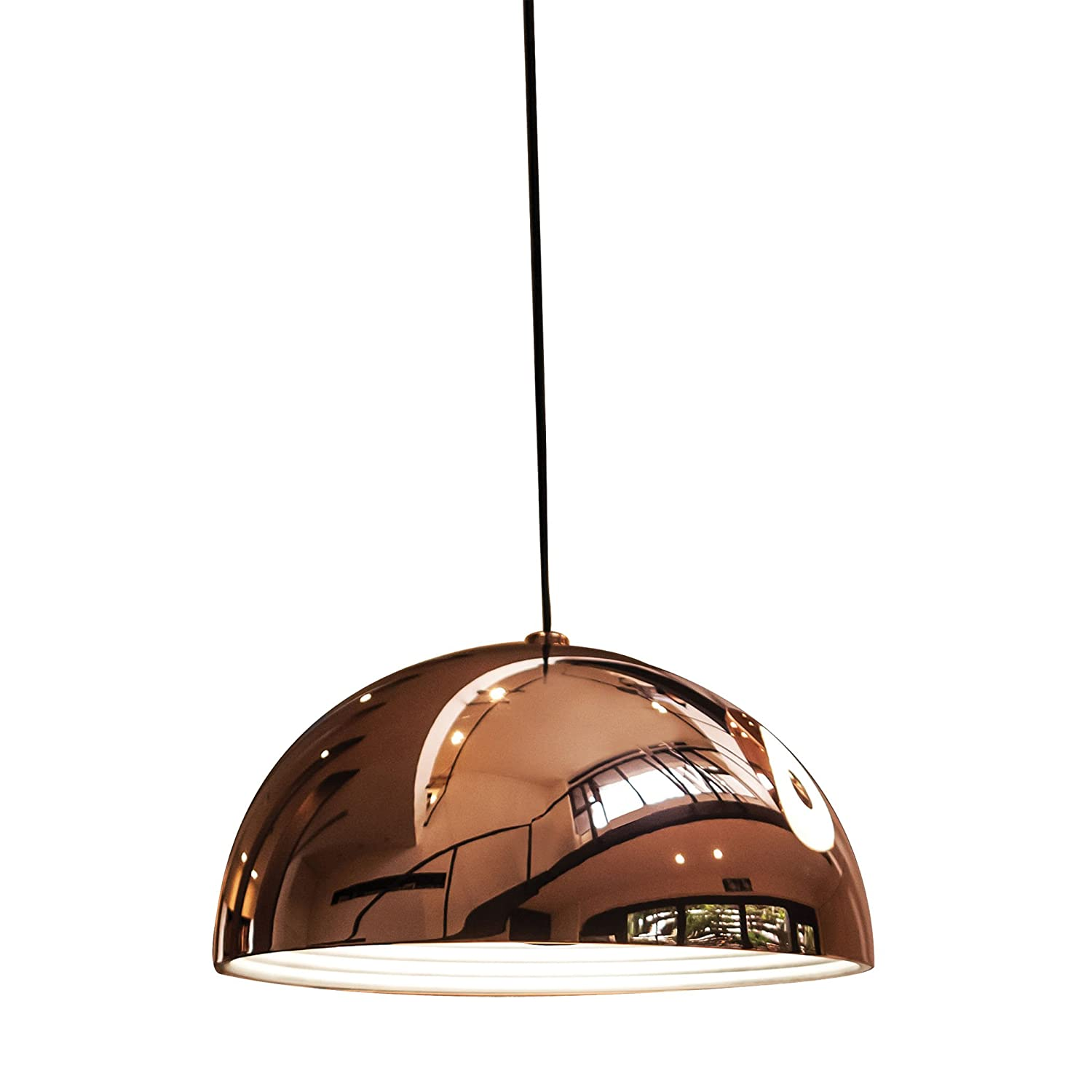 Elk Lighting PS8181 89 89 Cupola 1 Light Large Pendant, Copper      Amazon.com