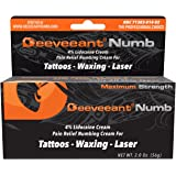 Deeveeant Lidocaine Numbing Cream Anesthetic (2 oz/56g) Topical Pain Relief - Tattoos, Laser, Waxing, Microblading, Microneedling US FDA