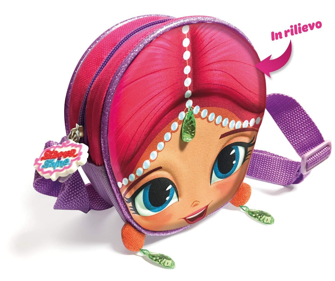 F85028 Memory Technology Borsa Shimmer /& Shine Borsettina a Tracolla in 3D Eva con Personaggio in Rilievo e Preziose Applicazioni per Bambini