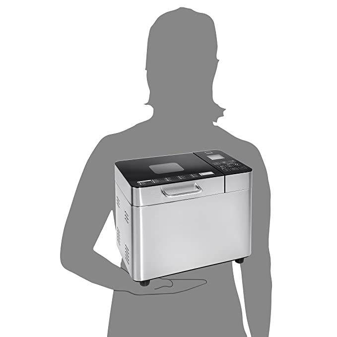 Sänger – Panificadora premium de acero inoxidable | 22 programas predefinidos, con temporizador, función de calor y para amasar, 3 tamaños de pan: 500, ...