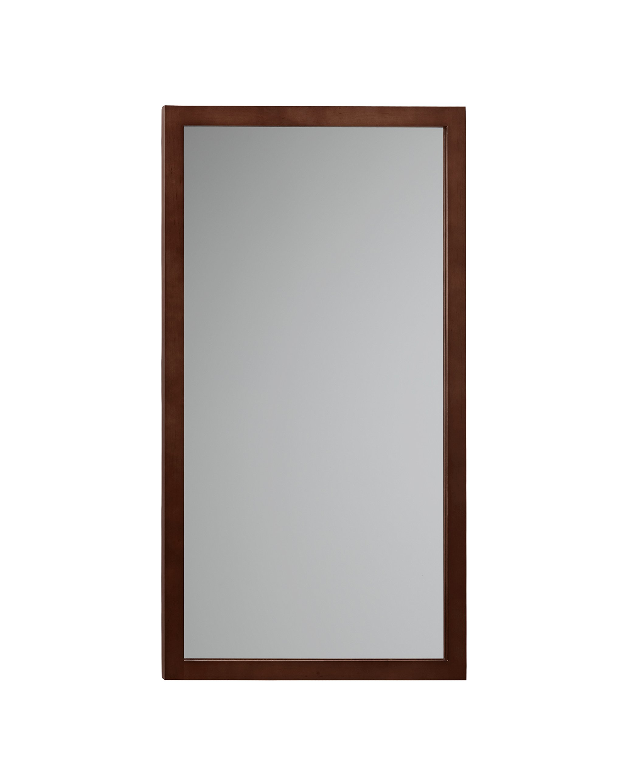 RONBOW Alina 17'' x 31'' Solid Wood Frame Wall Decor Rectangle Bathroom Mirror in Dark Cherry 600118-H01