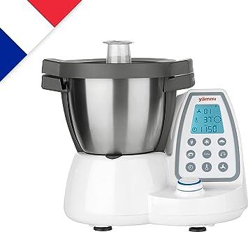 Yämmi Robot de Cocina Multifuncional en Francés, Capacidad Bruta de 4.8 l, 11 Funciones, Incluye 8 Accesorios, Potencia de 1500 W, Motor 500 W, Libro de Recetas en Francés: Amazon.es: Hogar
