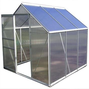 2 5 6 06m Alu Aluminium Gewachshaus Glashaus Tomatenhaus 6mm