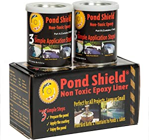 Pond Armor SKU-TAN-QT-R Non-Toxic Pond Shield Epoxy Paint, 1.5-Quart, Tan