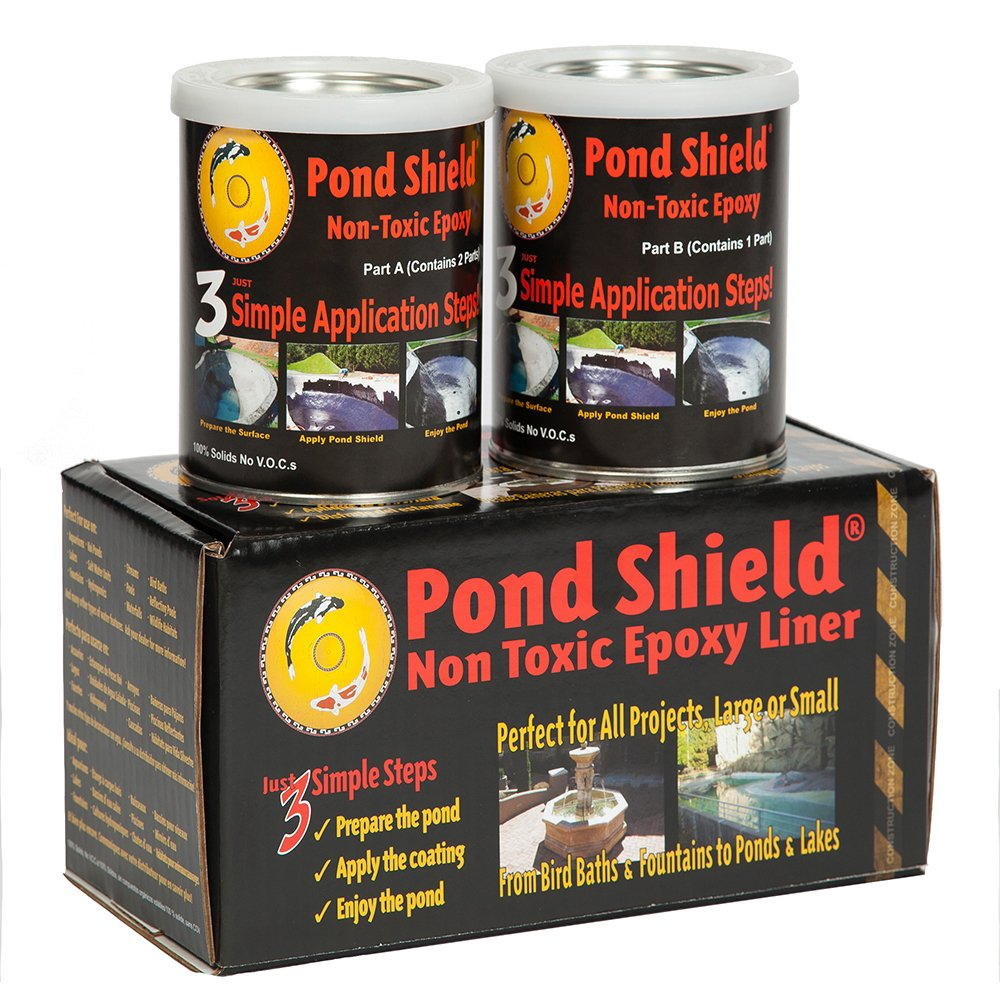 Pond Armor SKU-BLACK-QT-R Non Toxic Pond Shield Epoxy Paint, 1.5-Quart, Black by Pond Armor