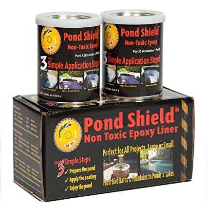 Pond Armor SKU-CLEAR-QT-R Non-Toxic Pond Shield Epoxy Paint, 1 5-Quart,  Clear