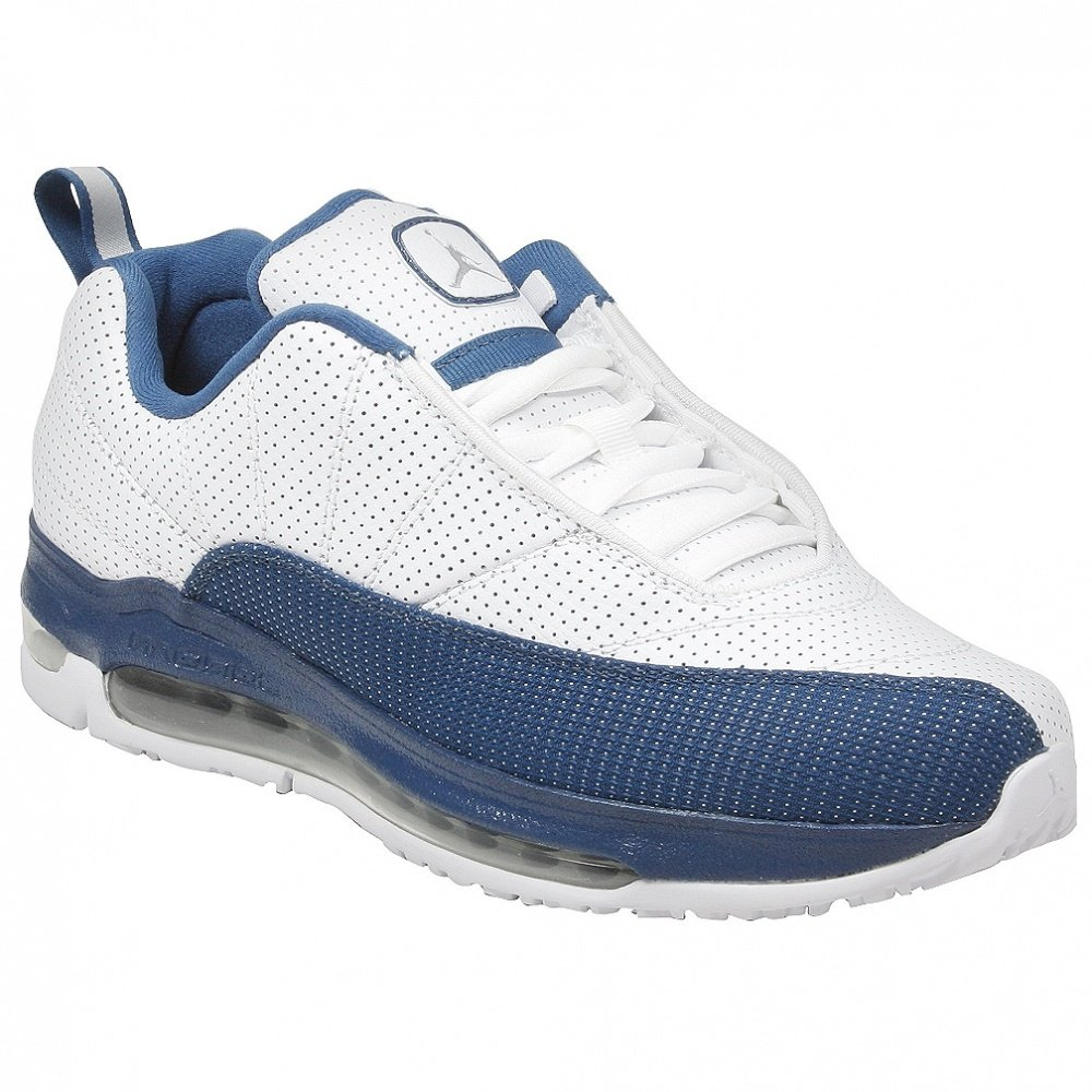 2571f906fb4 Amazon.com | Jordan CMFT Air Max 12 GS (White/Metallic Silver-French Blue)  6 | Basketball