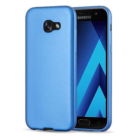 Funda Galaxy A3 (2017) Case, JAMMYLIZARD Carcasa TPU Fina Goma De Silicona [Metallic Jelly ] Efecto Metálico Mate Back Cover Para Samsung Galaxy A3 ...