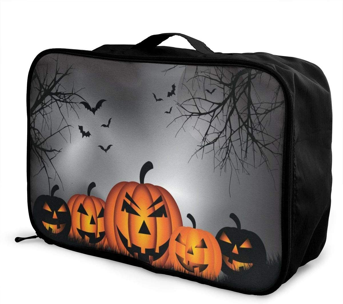 Yunshm Happy Halloween Dark Night Personalized Trolley Handbag Waterproof Unisex Large Capacity For Business Travel Storage