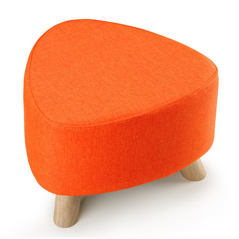 C 28x39cm(11x15inch) Low Stool,Three-Legged Removable and Washable Firmness Fabric Solid Wood Small Stool shoes Stool Sofa Bench-d 28x39cm(11x15inch)