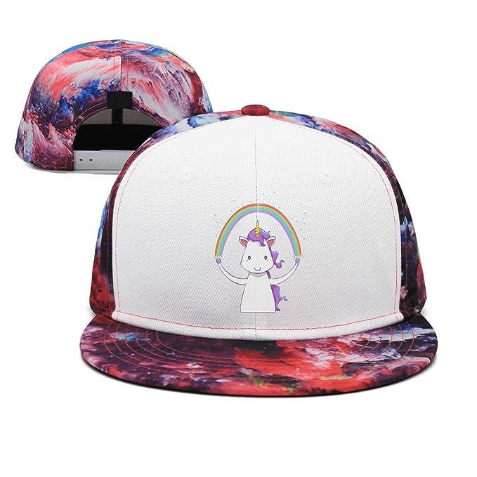 c32d63d318c Trum Namii Unisex Flat caps Rainbow Unicorn Flat Cap for Women at ...