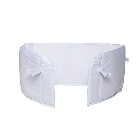 AeroSleep cama Bumper abu-120 – 060-ww Protector de cuna, color blanco