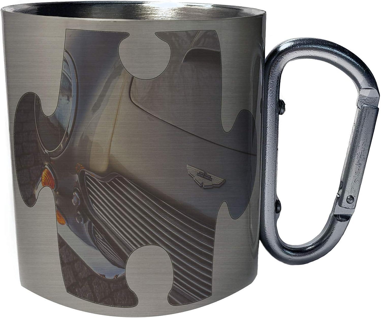 Amazon Com Puzzle Vintage Old Aston Martin Car Stainless Steel Carabiner Travel Mug 11oz E659c Kitchen Dining