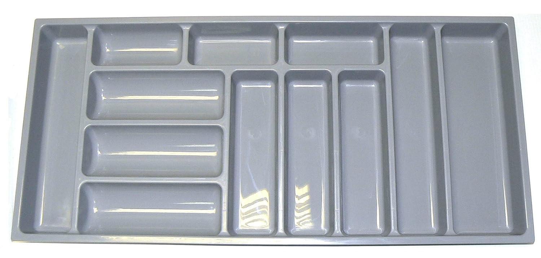 Alta calidad bandeja de cajón para cubiertos para adaptarse a la mayoría de 100 cm/1000 mm cajones. Resistentes de Plástico Gris 914 mm de ancho x 422 mm de ...