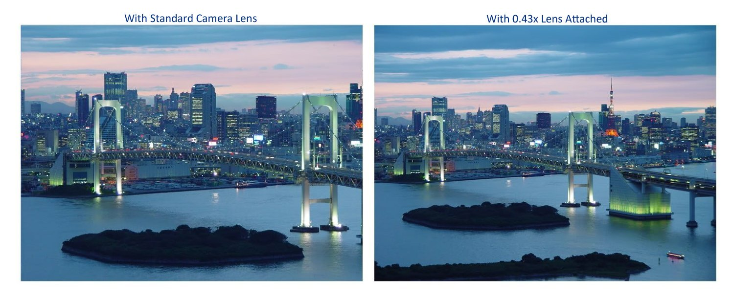 New 0.43x High Definition Wide Angle Conversion Lens for Canon EOS Rebel (Only for Lenses with Filter Sizes of 49, 52, 55, 58mm or 62mm)
