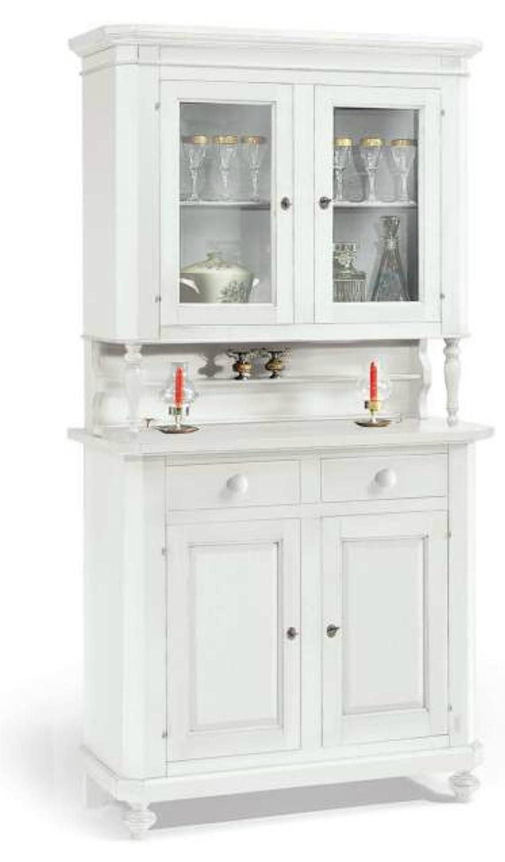 Credenza napoletana vetrina bianca shabby DTL1189: Amazon.it: Casa e ...
