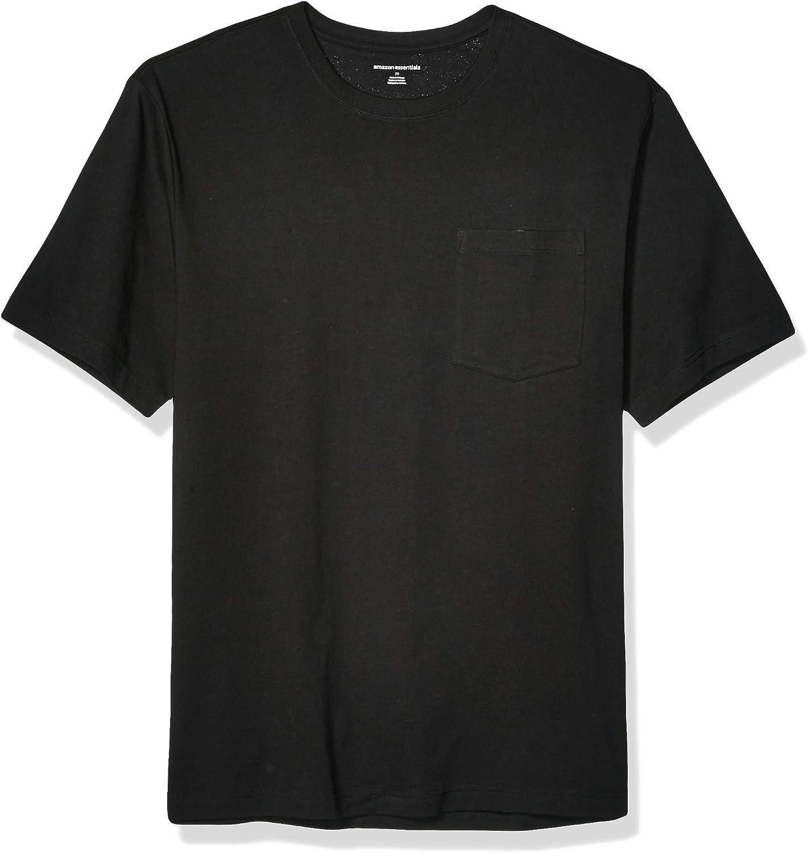 Essentials Men's Short-Sleeve Heavyweight Workwear Pocket T-Shirt: Clothing