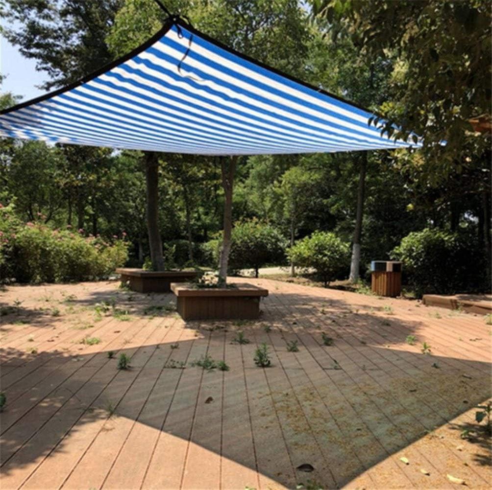 YKWYQ Toldos Impermeables Exterior Varios Tamaño Blanco Azul de Sun del Color Refugio de Malla Sombra Net con Agujero de la caída por el Metro for Acampar Piscina Cubierta de la Cortina: