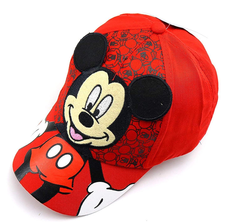 HiiWorld New Mesh Baseball Cap Kids Boys Girls Adjustable Caps Fashion Cartoon Mickey Minnie Children Snapback Hat