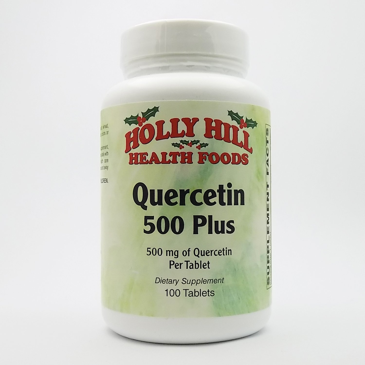 Holly Hill Health Foods, Quercetin Plus 500 MG, 100 Tablets