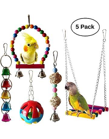 Hearty Parrot Bird Cage Hammock Swing Toy Cockatiel Macaw Parrot Hemp Rope Climbing Net Toys Bird Supplies Home & Garden