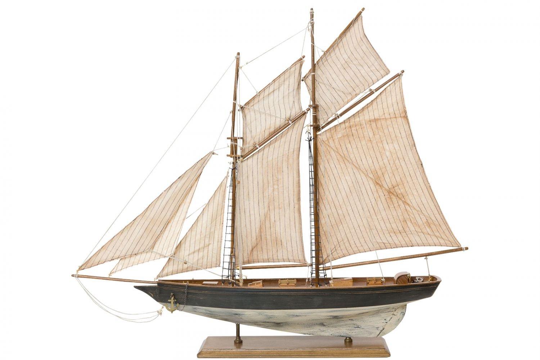 Modello di nave barca a vela barca di legno nave nave a vela modello di nave 85 aubaho