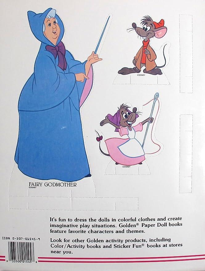Amazon.com: Walt Disney Clásico Papel Cenicienta muñeca ...