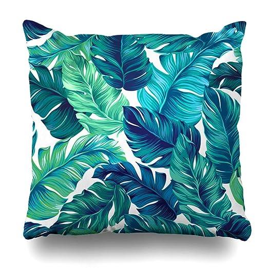 Green Haoke Almohada Decorativa Cubierta Hoja Verde Azulado ...