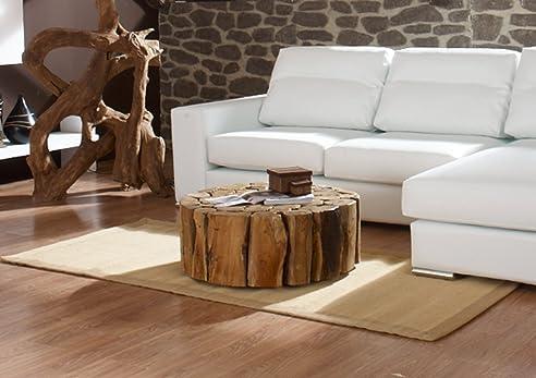 teak couchtisch bega xl 80 cm wohzimmer tisch rund holz massiv wurzel wurzelholz driftwood - Wohnzimmertisch Holz Wurzel