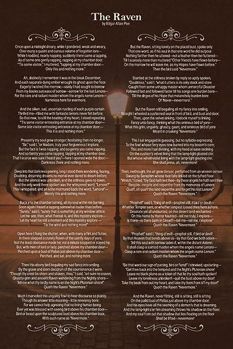 Edgar Allan Poe The Raven Art Print Poster 12x18 inch