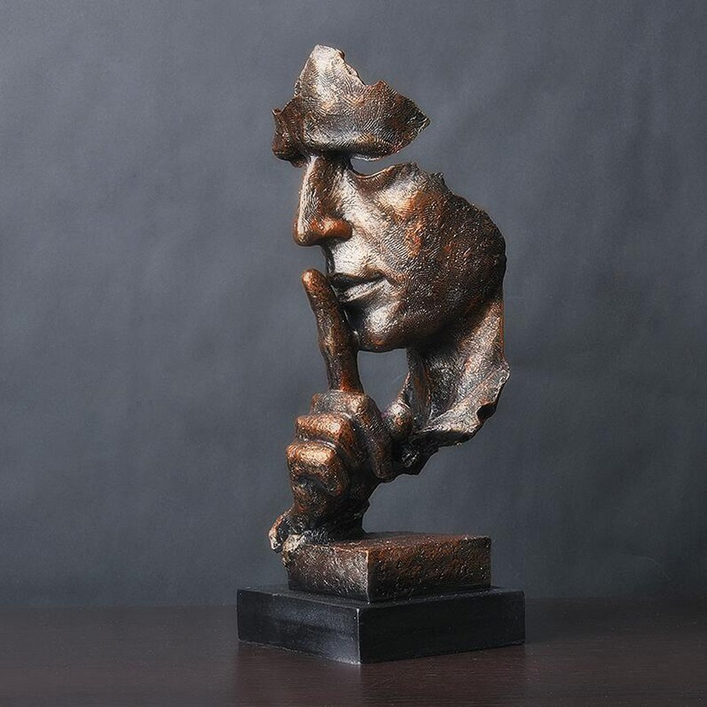 Moderna Minimalista Astratta In Resina Scultura Opere D'arte Decorazione Soggiorno Interno Studio Ufficio Artigianato Statue Ornamenti, 13 * 12 * 34 cm ( Colore : A ) Sculture
