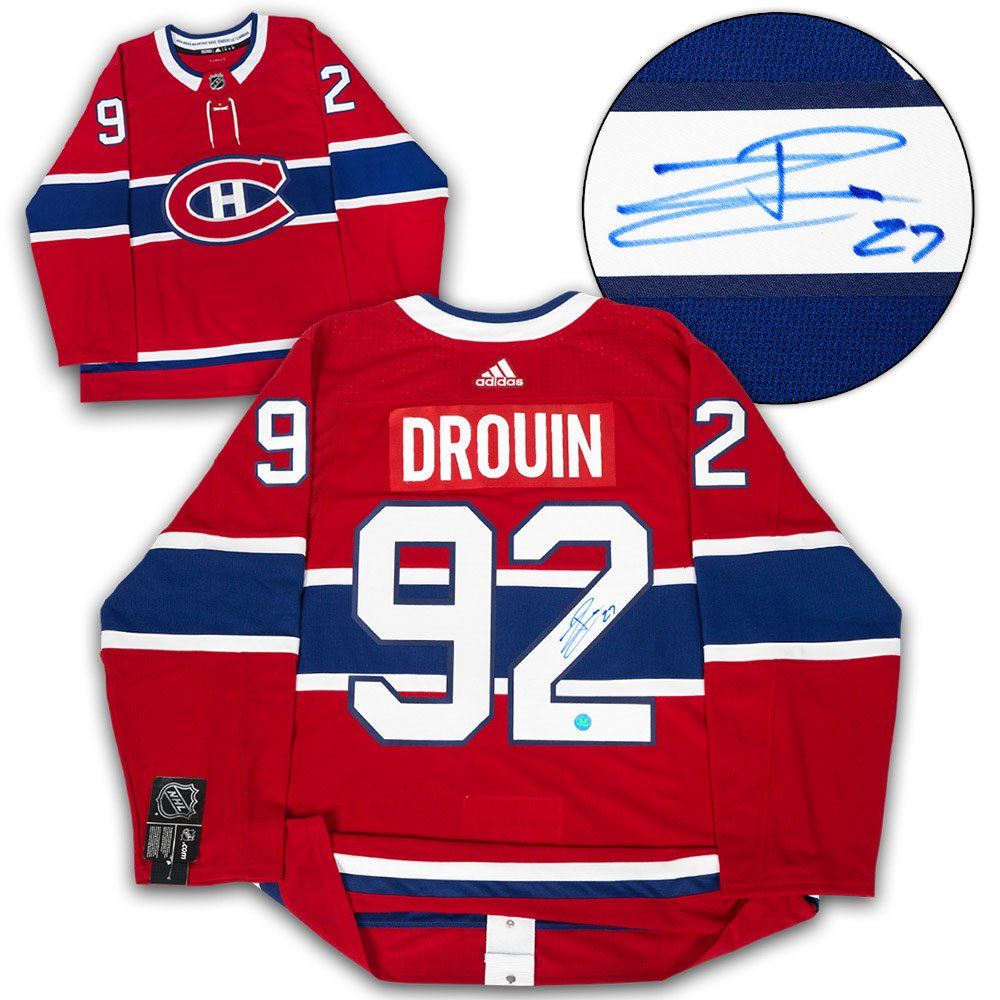 cheap for discount 35436 09dc5 Jonathan Drouin Montreal Canadiens Autographed Adidas ...