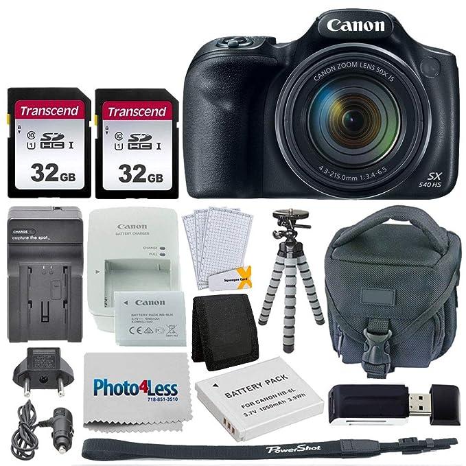 Amazon.com: Cámara digital Canon PowerShot SX540 HS + 2 ...