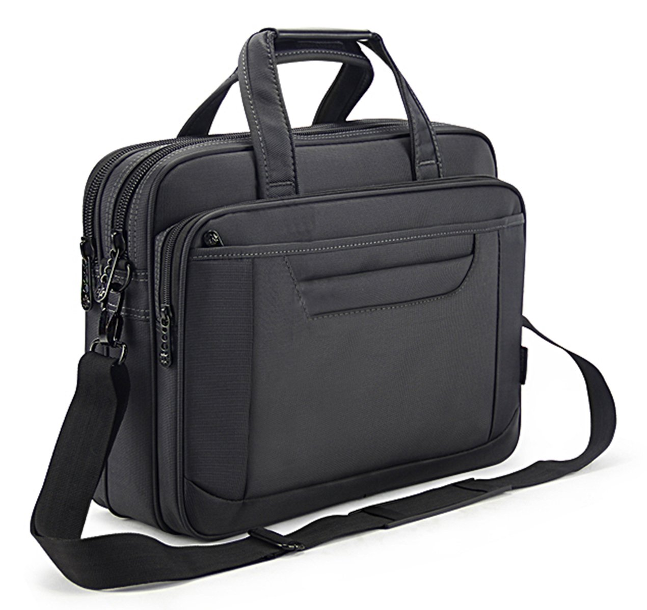 Briefcase Bag 15.6 Inch Laptop Messenger Bag Business Office Bag for Men Women, Waterproof Stylish Nylon Multi-functional Shoulder Bag fit for Computer Notebook Macbook Hp Dell Lenovo Asus Apple