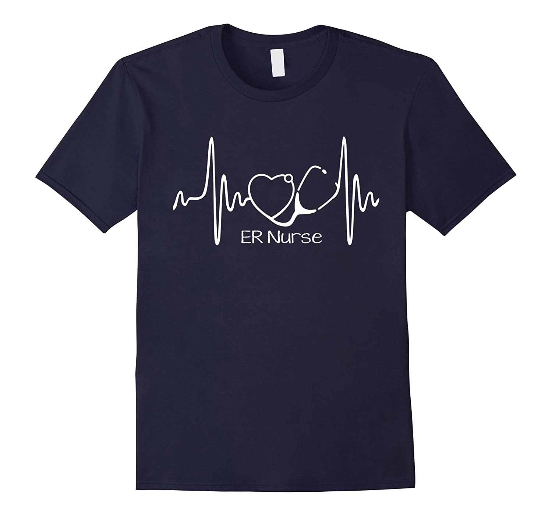 ER nurse ER Nurse heartbeat T-shirt-TH